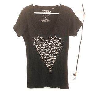 Graphic V-neck tee